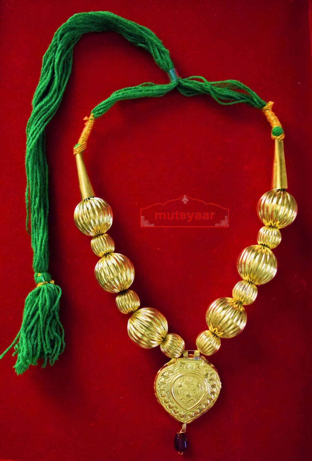 Golden Kaintha Necklace for Bhangra Giddha | Costume Jewelry – normal