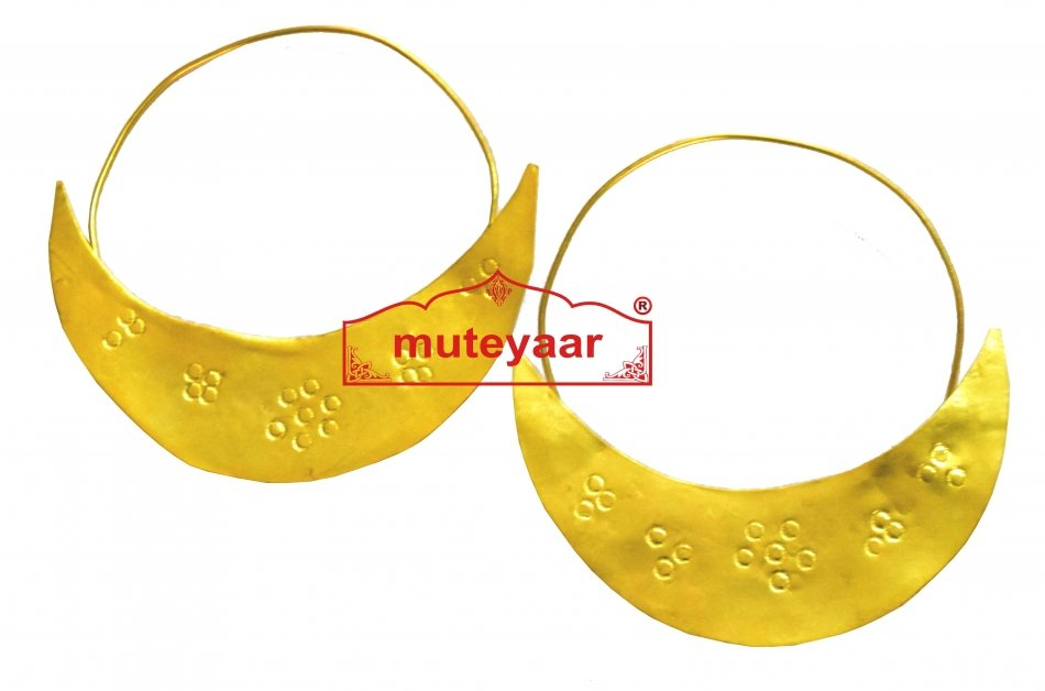 Chand Bali Traditional earrings set for Men for bhangra performance 1