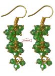 3 Step Crystal Earrings Jhumki – All colours available